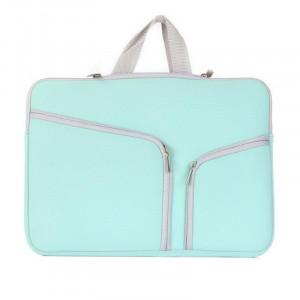 Double poche Zip sac à main pour ordinateur portable sac pour Macbook Pro 15 pouces (vert) SH314L1663-20