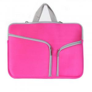 Double poche Zip sac à main pour ordinateur portable sac pour Macbook Pro 15 pouces (Magenta) SH314M865-20