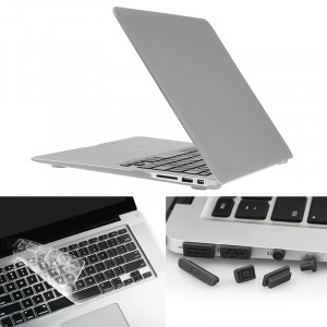 ENKAY pour Macbook Air 11,6 pouces (version US) / A1370 / A1465 Hat-Prince 3 en 1 Coque de protection en plastique dur avec protection de clavier et prise de poussière de port (argent) SE580S928-20