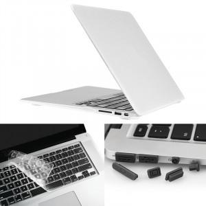 ENKAY pour Macbook Air 11,6 pouces (version US) / A1370 / A1465 Hat-Prince 3 en 1 Coque de protection en plastique dur givré avec clavier de protection et prise de poussière de port (blanc) SE580W256-20