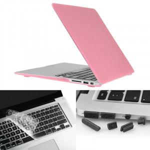 ENKAY pour Macbook Air 13,3 pouces (version US) / A1369 / A1466 Hat-Prince 3 en 1 givré Hard Shell étui de protection en plastique avec clavier de garde et bouchon de poussière de port (rose) SE581F914-20