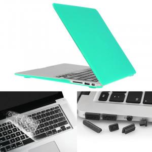 ENKAY pour Macbook Air 13,3 pouces (version US) / A1369 / A1466 Hat-Prince 3 en 1 Coque de protection en plastique dur avec protection de clavier et prise de poussière de port (vert) SE581G928-20