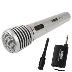 Microphone sans fil / filaire avec récepteur et antenne, distance effective: 15-30m SH03121379-20