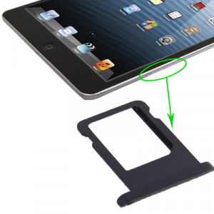 iPartsBuy pour iPad mini (Version WLAN + Celluar) Version originale Support de carte SIM (Noir) SI723D1820-20