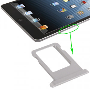 iPartsBuy pour iPad mini (Version WLAN + Celluar) Version originale Support de carte SIM (Argent) SI723S1154-20