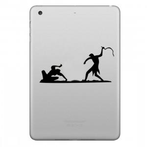 ENKAY Chapeau-Prince Fouetter l'autocollant de peau décorative amovible Apple Pattern pour iPad mini / 2/3/4 SE100D733-20