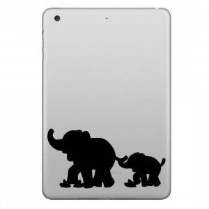 ENKAY Hat-Prince éléphants modèle démontable autocollant peau décorative pour iPad mini / 2/3/4 SE100J1638-20