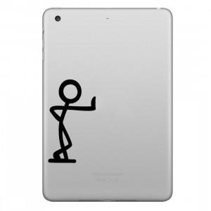 ENKAY Chapeau-Prince Une seule main adossée à l'autocollant de peau décorative amovible Apple Pattern pour iPad mini / 2/3/4 SE100K1313-20