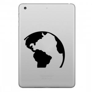 ENKAY Chapeau-Prince Earth Pattern amovible autocollant peau décorative pour iPad mini / 2/3/4 SE100L1071-20
