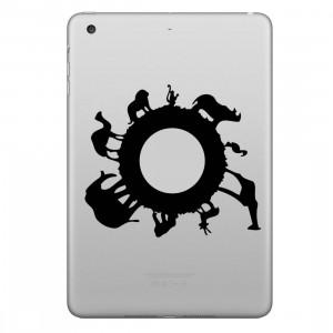 ENKAY Chapeau-prince zoo amovible autocollant peau décorative pour iPad mini / 2/3/4 SE100N273-20
