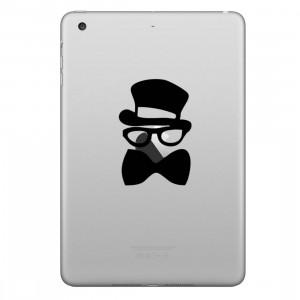 ENKAY Chapeau-Prince Bowknot Gentleman Motif Amovible Peau Décorative Autocollant pour iPad mini / 2/3/4 SE100T410-20
