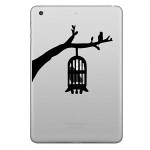 ENKAY Chapeau-Prince Birdcage Motif Amovible Peau Décorative Autocollant pour iPad mini / 2/3/4 SE200C1126-20