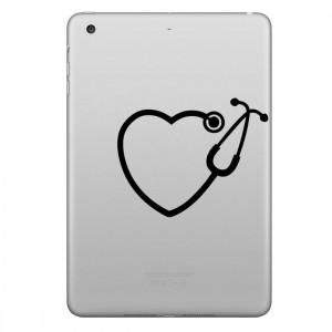 ENKAY Hat-Prince en forme de coeur Stéthoscope Motif Amovible Peau Décorative Autocollant pour iPad mini / 2/3/4 SE200M865-20