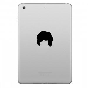 ENKAY Chapeau-Prince Motif de cheveux amovible autocollant peau décorative pour iPad mini / 2/3/4, Taille: S SE200N1613-20