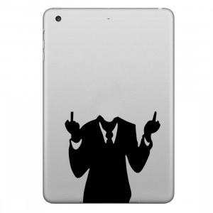 ENKAY Chapeau-Prince Hommes en Costumes Motifs Amovible Peau Décorative Autocollant pour iPad mini / 2/3/4 SE200R1335-20