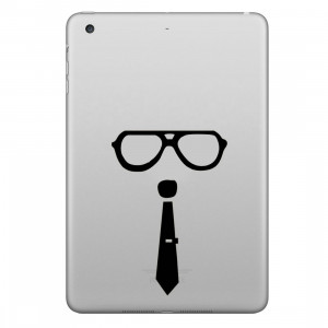 ENKAY Chapeau-Prince Verre et Motif Cravate Amovible Peau Décorative Autocollant pour iPad mini / 2/3/4 SE200Y1559-20