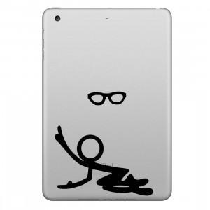 ENKAY Chapeau-Prince Lunettes Motif Personne Autocollant Peau Décorative Amovible pour iPad mini / 2/3/4 SE200Z489-20