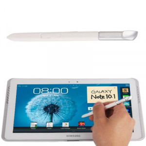 Stylet S sensible à la pression intelligent / stylet pour Galaxy Note 10.1 / N8000 / N8010 (blanc) SH20WL1864-20