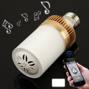 E27 4.5W Blanc 24 LED Bluetooth Haut-parleur Lumière / Lampes à économie d'énergie SH0692342-20