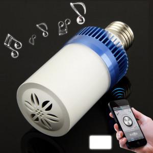 E27 4.5W Blanc 24 LED Bluetooth Haut-parleur / Lampes à économie d'énergie (bleu) SH92BE1803-20