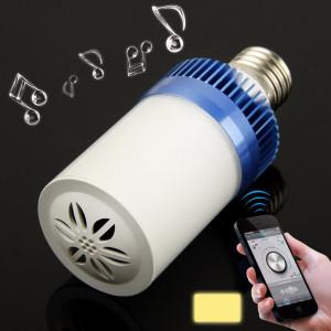 E27 4.5W blanc chaud 24 LED Bluetooth haut-parleur lumière / lampes à économie d'énergie (bleu) SH2BEW1261-20
