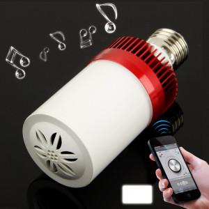 E27 4.5W Blanc 24 LED Bluetooth Haut-parleur / Lampes à économie d'énergie (rouge) SH692R1136-20