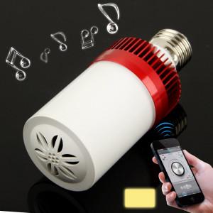 E27 4.5W blanc chaud 24 LED Bluetooth haut-parleur lumière / lampes à économie d'énergie (rouge) SH92RW1102-20