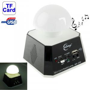 CT-0019 Multi LED Lumières haut-parleur avec radio FM, carte de soutien TF (noir) SH07851412-20