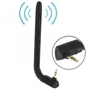 Haute Qualité 6dBi 3.5mm Flexion Mobile FM & Antenne TV (Noir) SH01121419-20