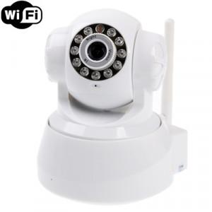 Caméra IP infrarouge sans fil avec WiFi, 0,3 mégapixels, fonction de détection de mouvement et de vision nocturne / alarme infrarouge SH0242244-20