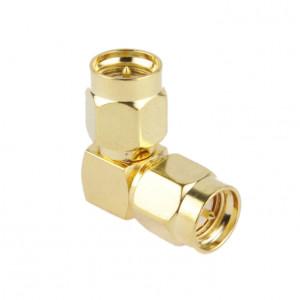 Mâle plaqué or SMA mâle à SMA adaptateur mâle avec angle de 90 degrés SG0028518-20