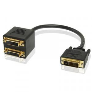 24 + 1 DVI Mâle à 2 DVI Adaptateur de Câble Femelle, Longueur: 30cm S204371808-20