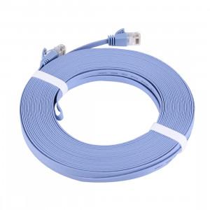 Câble LAN réseau Ethernet plat CAT6 ultra-plat, longueur: 15 m (bleu) SC739A1232-20