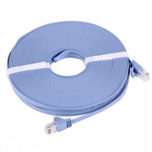 Câble LAN réseau Ethernet plat CAT6 extra-plat, Longueur: 20m (Bleu) SC739B333-20