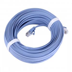 Câble LAN réseau Ethernet plat CAT6 ultra-plat, longueur: 30 m (bleu) SC739C683-20