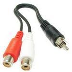 2 RCA AV Femelle À 1 RCA Mâle Y Splitter Câble Vidéo Adaptateur, Longueur: 26.5cm S20954301-20