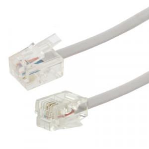 Câble téléphonique RJ11 vers RJ11 2 conducteurs, longueur: 5 m S2960D152-20