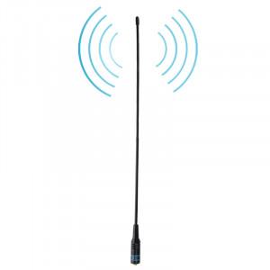 NAGOYA NA-771 144 / 430MHz Double bande flexible printemps fouet SMA-F antenne de poche portable pour talkie-walkie, antenne Longueur: 38cm SN12481840-20