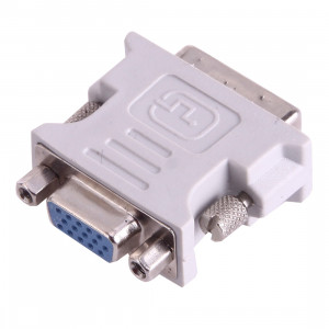 Convertisseur adaptateur DVI-I mâle à double liaison 24 + 5 à 15 broches vidéo VGA (gris) SD546W880-20
