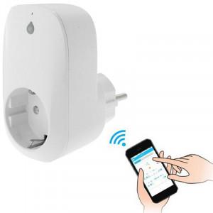 Portable gratuit APP Wi-Fi Accueil / Bureaux Automation Smart Wireless Power WiFi Plug, UE Plug (Blanc) SP572W1049-20