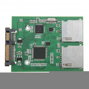 Carte SD double carte de convertisseur d'adaptateur SATA 22 broches SC23841637-20