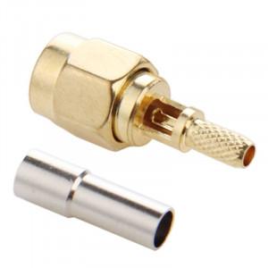 10 PCS plaqué or embout mâle SMA connecteur droit adaptateur pour câble RG174 / RG188 / RG316 / LMR100 S136181899-20