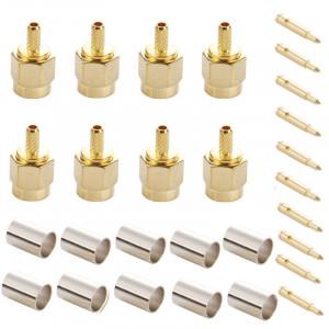 10 PCS plaqué or embout mâle SMA Connecteur RF Pin Connecteur pour câble RG174 / RG316 / RG188 / RG179 S13627957-20