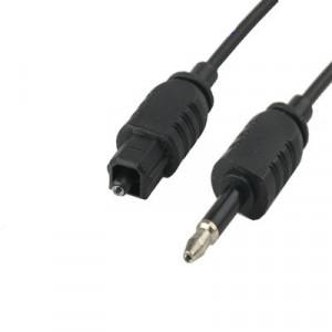 Câble audio numérique optique mâle vers 3.5mm TOSLink mâle, longueur: 0.8 m, OD: 2.2mm (noir) SH4106152-20