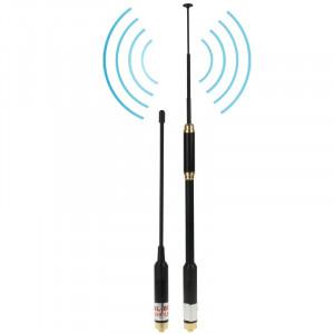 AL-800 double bande 144 / 430MHz haut gain SMA-F téléscopique Radio portable double antenne pour talkie-walkie, longueur de l'antenne: 22cm / 86cm SA52001055-20
