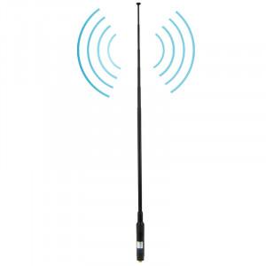 RH660S Dual Band 144 / 430MHz Antenne de poche téléscopique SMA-F à gain élevé pour talkie-walkie, antenne Longueur: 108.5cm SR5202196-20