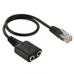 RJ9 Mâle à 2 x Câble Audio Femelle 3,5mm, Longueur: 20cm SR66731363-20