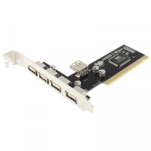 Carte PCI USB 2.0 4 + 1 Ports (Noir) SC1004550-20