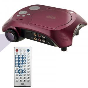Projecteur DVD portable de cinéma maison avec fonction récepteur TV (PAL / NTSC / SECAM), entrée AV IN / OUT et fonction de jeu, carte SD / MMC / disque flash USB compatible SH10541231-20