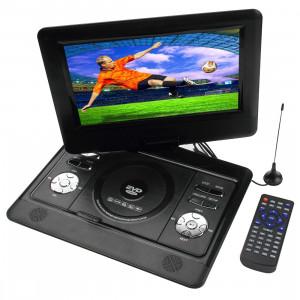 10 pouces écran TFT LCD multimédia numérique DVD portable avec lecteur de carte et port USB, soutien TV (PAL / NTSC / SECAM) et fonction de jeu, rotation de 180 degrés, carte SD / MS / MMC de soutien (noir) SH1057437-20